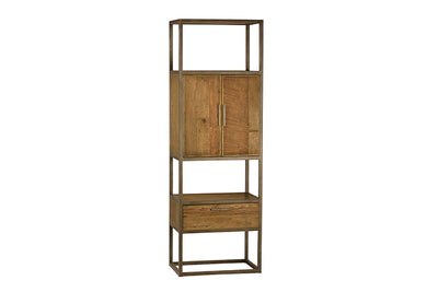 Burnt Oak and Metal Bar Cabinet - Mix Home Mercantile