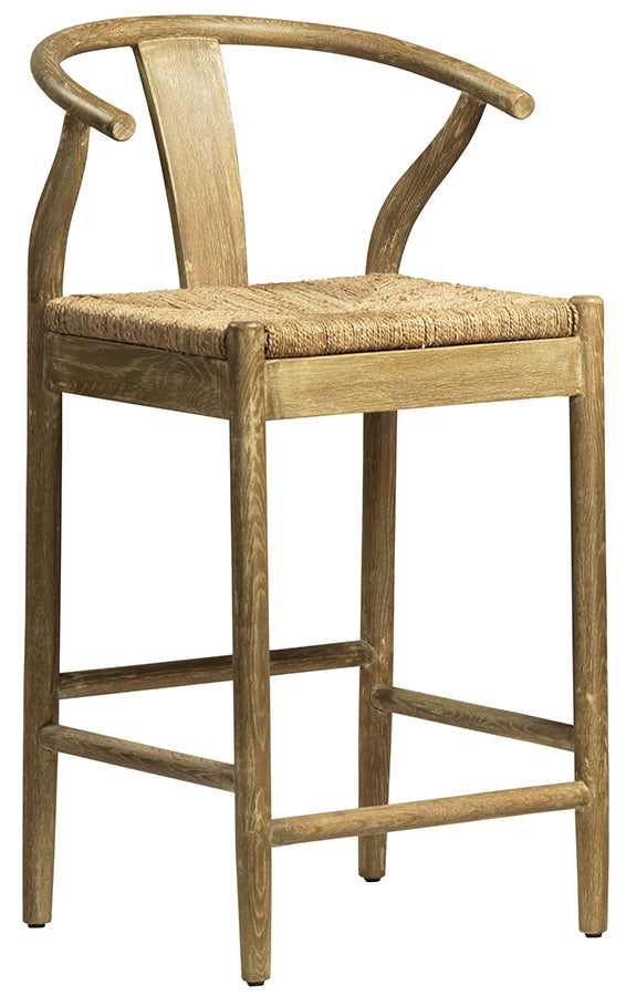 Wishbone Counter Stool in Natural Finish - Mix Home Mercantile