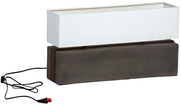 Horizontal Concrete Lamp