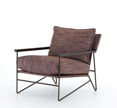 Brown Textured Lounge Chair - Mix Home Mercantile
