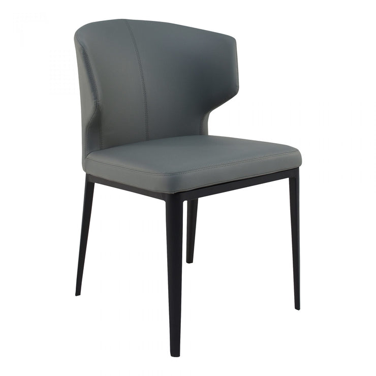 Faux Leather Gray Dining Chair - Mix Home Mercantile