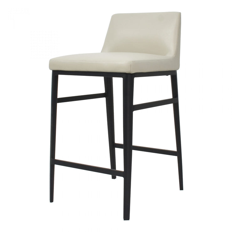 Faux Leather Beige Counter Stool - Mix Home Mercantile