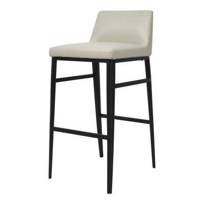 Faux Leather Beige Barstool - Mix Home Mercantile