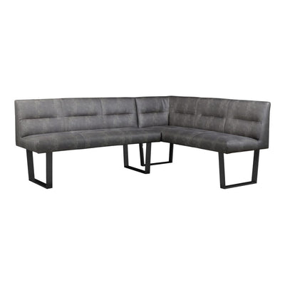 DARK GREY CORNER BENCH - Mix Home Mercantile
