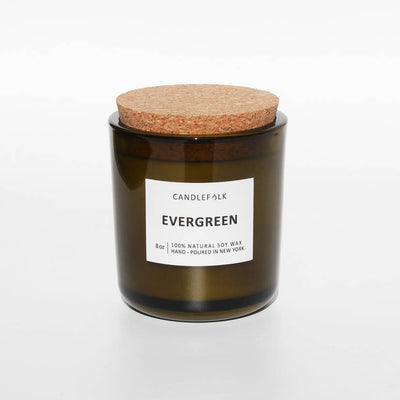 8 oz Evergreen Soy Candle - Mix Home Mercantile