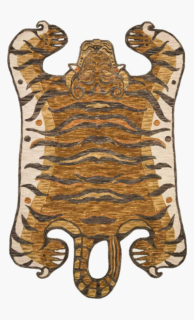 "Wool Tiger Rug 5' x 7' 6"" - Mix Home Mercantile"