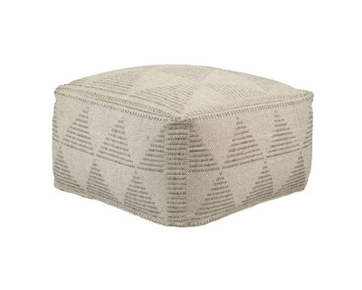 24 x 24 Flint Gray Pouf - Mix Home Mercantile