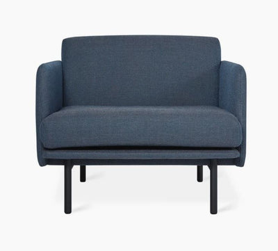 Minimalist Blue Upholstered Lounge Chair - Mix Home Mercantile