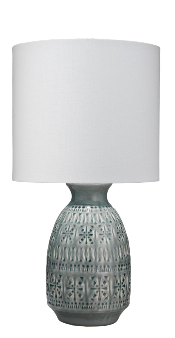 Dark Grey Frieze Table Lamp - Mix Home Mercantile