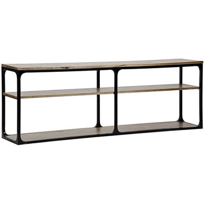 Large Black, Metal and Walnut Console - Mix Home Mercantile