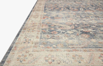 "7' 6"" x 9' 6"" Blue and Multi Area Rug - Mix Home Mercantile"