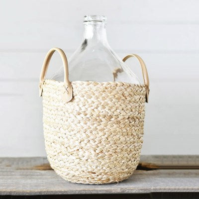 "16"" Glass Bottle in Bag - Mix Home Mercantile"