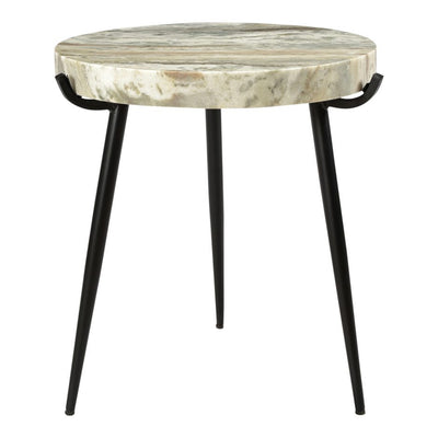 Round Marble Accent Table - Mix Home Mercantile