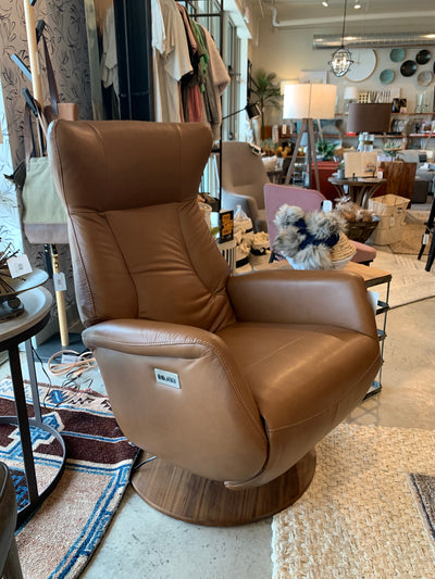 Retro Leather Power Recliner - Mix Home Mercantile