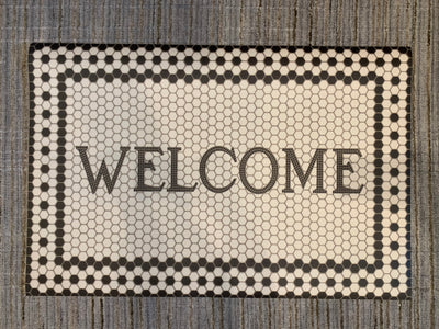 24 x 36 Vintage Vinyl Welcome - Mix Home Mercantile
