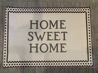 38 x 56 Vintage Vinyl Home Sweet Home - Mix Home Mercantile
