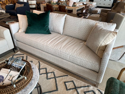 Custom Grey Upholstered Sofa - Mix Home Mercantile