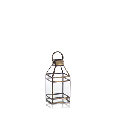 Medium Antique Brass Lantern - Mix Home Mercantile