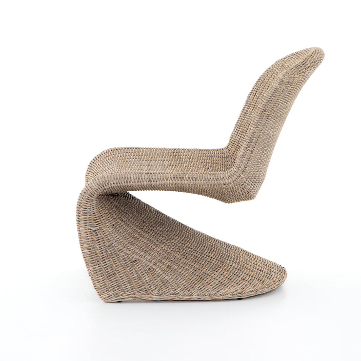 Outdoor Armless Woven Lounge Chair - Mix Home Mercantile