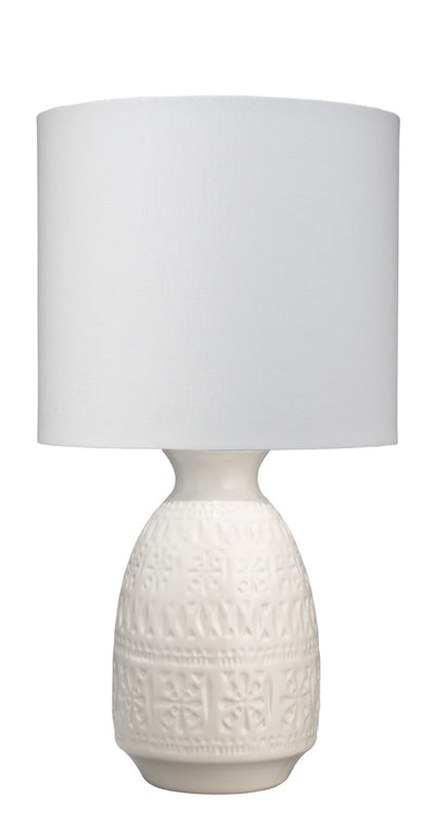 White Ceramic Frieze Lamp - Mix Home Mercantile