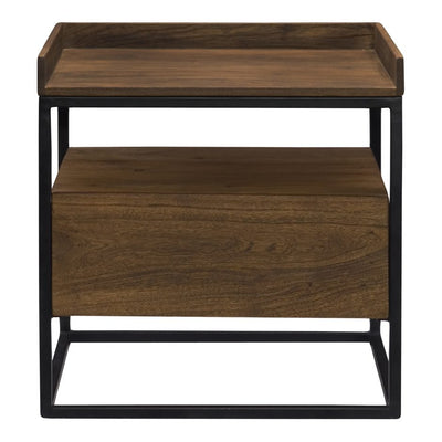 Acacia and Iron Side Table - Mix Home Mercantile