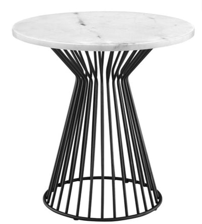 Marble Top Round End Table - Mix Home Mercantile