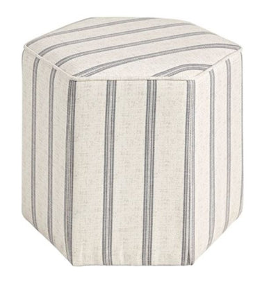 Striped Accent Ottoman - Mix Home Mercantile