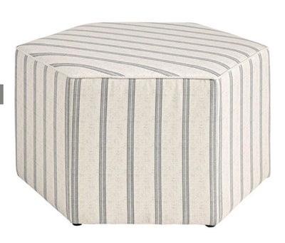 Striped Cocktail Ottoman - Mix Home Mercantile