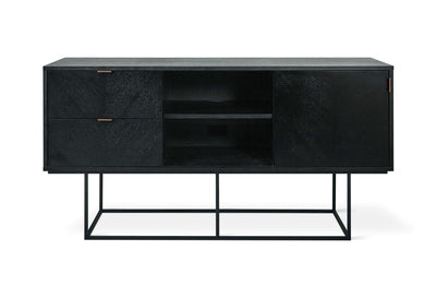 "60"" ContemporaryBlack Media Cabinet - Mix Home Mercantile"