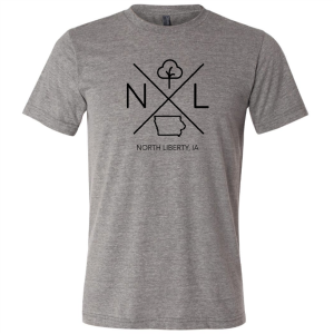 North Liberty Short Sleeve T-shirt: Gray - Mix Home Mercantile
