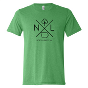 North Liberty Short Sleeve T-Shirt: Green - Mix Home Mercantile