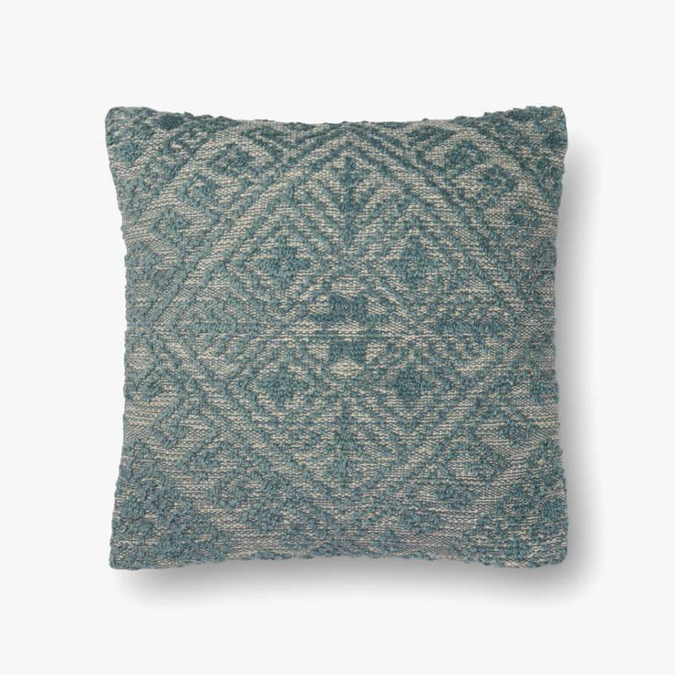 "22"" Blue Down Filled Toss Pillow - Mix Home Mercantile"