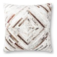 "22"" X 22"" Gray and Pattern Pillow - Mix Home Mercantile"