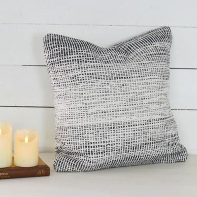 "20"" Black and White Pillow - Mix Home Mercantile"