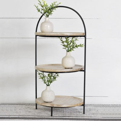 3 Tier Wood and Metal Riser - Mix Home Mercantile