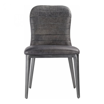 Leather and Iron Dining Chair - Mix Home Mercantile