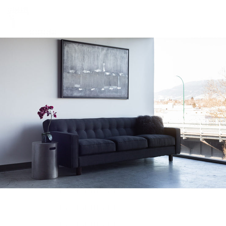 Contemporary  Linen Charcoal Sofa