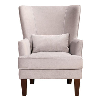 Grey Velvet Wing Back Arm Chair - Mix Home Mercantile