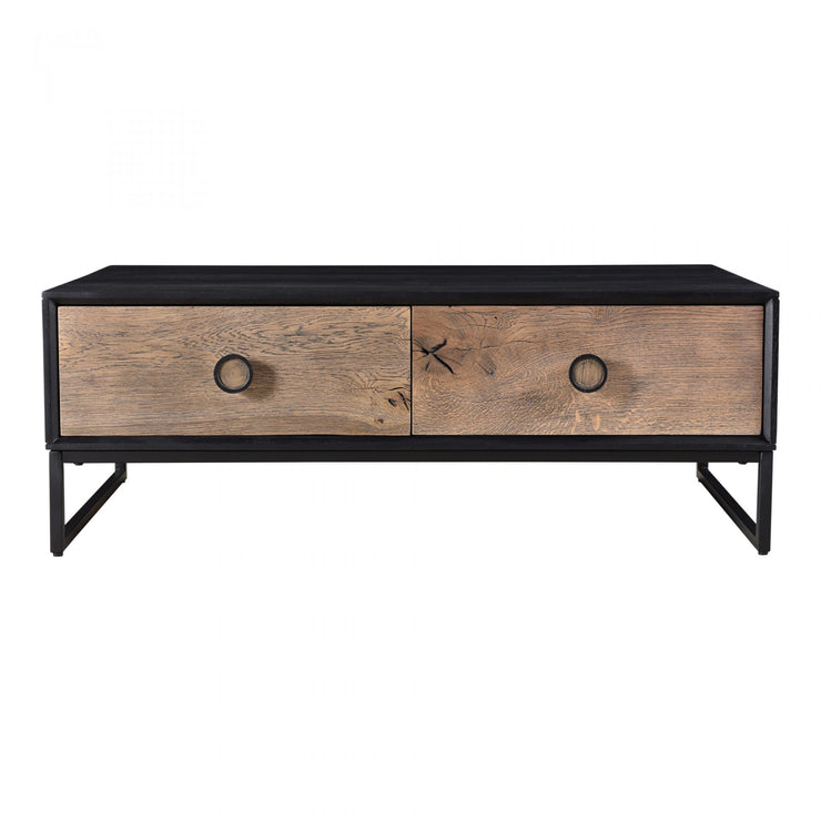 Oak and Mango Two-Tone Cocktail Table - Mix Home Mercantile
