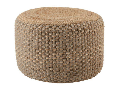 "24"" Natural Jute Pouf - Mix Home Mercantile"