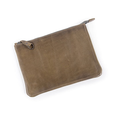 Leather Zip/Clutch Wallet - Mix Home Mercantile