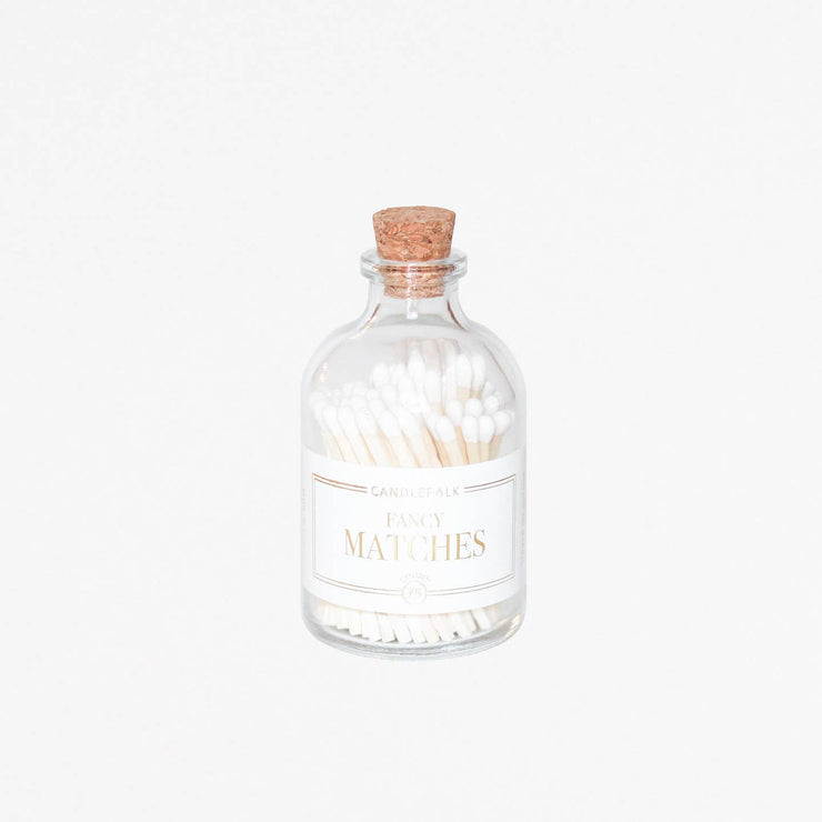 Small White Apothecary Matches - Mix Home Mercantile