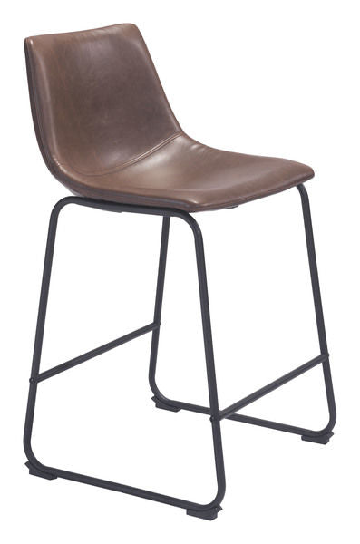 Faux Leather Brown Counter Stools - Mix Home Mercantile
