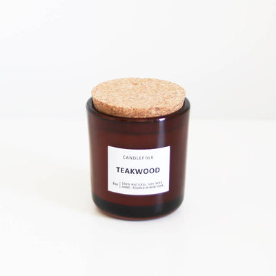 Teakwood 8 oz Candle - Mix Home Mercantile
