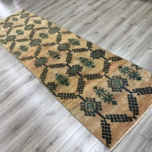 "Vintage Persian Runner 2'8""x 9'8"" - Mix Home Mercantile"
