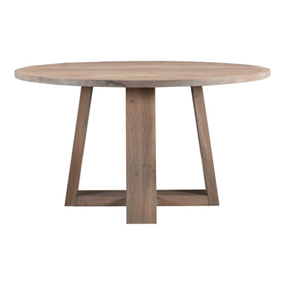 "54"" Round Solid Wood Dining Table - Mix Home Mercantile"