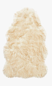 Ivory Faux Shag Hide 2' x 3' - Mix Home Mercantile