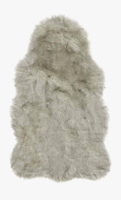 Silver Faux Shag Hide 2' x 3' - Mix Home Mercantile