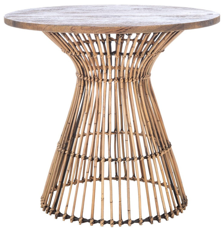 Mangowood and Rattan Side Table - Mix Home Mercantile