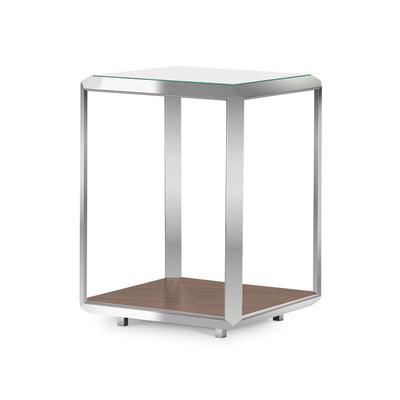 Glass Top Contemporary End Table - Mix Home Mercantile